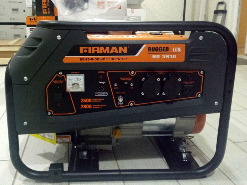 генератор FIRMAN RD3910