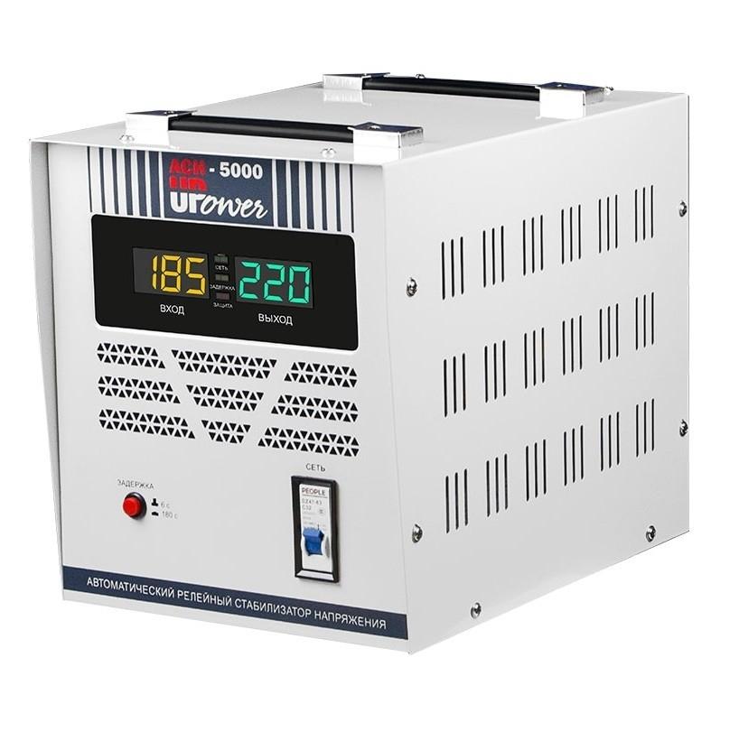 Однофазный стабилизатор напряжения UPOWER АСН 5000 II поколение